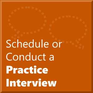 Schedule or Conduct a Practice Interview